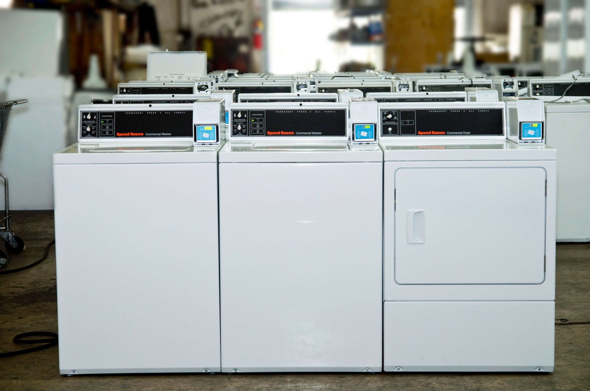 Laundry machines About Our Equipment